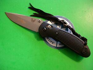 """NTSA BENCHMADE USA """"GRIPTILIAN"""" 4 5/8"""" CLOSED AXIS LOCK POCKET KNIFE #551"""