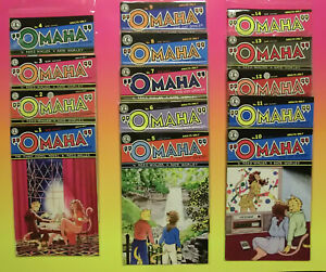 OMAHA The Cat Dancer 1984 - 1986 Complete (14/14) COMIC lot + PICTURE DISK !!!