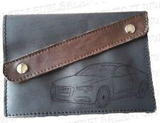 Portadocumenti verticale auto per Audi A5 porta libretto in pelle