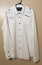 marc ecko- Camisa mangas larga para hombre, color blanca.(2)