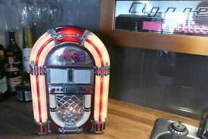 Coca Cola Jukebox CD and Radio.  Small Wurlitzer 1015 Design. 41cms High-Working