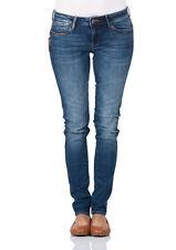 Mavi Damen Jeans Serena - Skinny Fit - Blau - Dark Used Glam