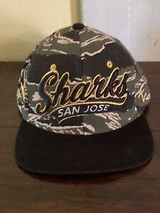 San Jose Sharks NHL Camo Green/ Hat