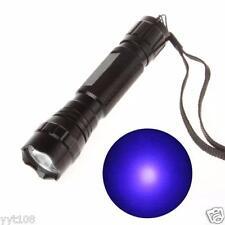 UV Blacklight WF-501B LED 365NM Ultra Violet Flashlight Torch 18650 Light Lamp