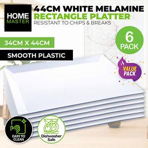 Home Master 6PCE Melamine Platter Rectangular Lightweight Durable 34cm x 44cm