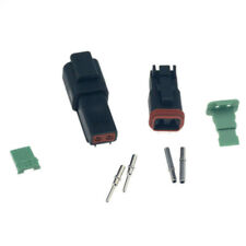 5 sets Black Deutsch 2 Pin Waterproof Electrical Wire Connector Plug 16-18 GA