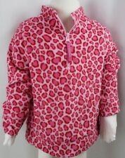 Sonoma Girls Pink Leopard Fleece Half Zip Sweat Shirt Jacket Size 3T