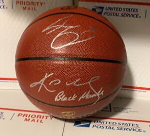 Kobe Bryant Shaquille O'Neil autographed signed Basketball with coa