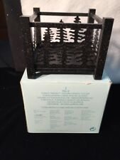 PartyLite FOREST FRIENDS Square Candle Holder Pillar Metal Retired P8618 In Box!