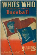1941 Who's Who in Major League Baseball 9th Edition