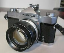 Konica Autoreflex T SLR Film Camera Needs Service + 57mm 1.4 Hexanon Lens Mint