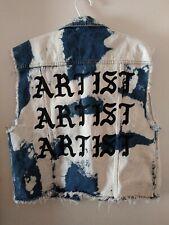 Forever 21 Denim Sleeveless Jacket Vest Acid Washed Artist Too Short Large L