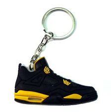NEW AIR JORDAN IV 4 RETRO THUNDER BLACK YELLOW OG SNEAKERS SHOES KEY CHAIN RING