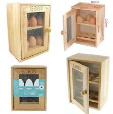 Hevea Wood Egg Cabinet 12 Eggs Holder Organizer Unit Mesh Door Shelf Egg House