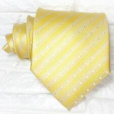 Cravatta Larga Oro  Jacquard  Made in Italy 100% seta business eventi matrimoni