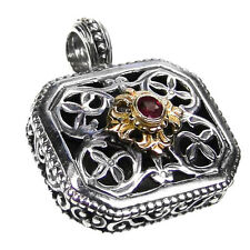 Gerochristo 1398 ~ Solid Gold, Silver & Ruby~ Medieval-Byzantine Pendant