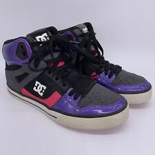 DC Womens Shoes Size 8 Spartan Hi Purple Pink Skateboard High Tops 303370 Shoes