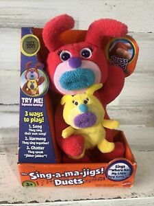 Mattel The Sing-A-Ma-Jigs Duets -Red With Yellow Puppy, Works great!