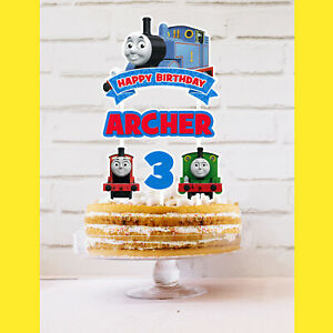 THOMAS THE TANK ENGINE Cake Topper Personalised *STURDY* Birthday Decorations