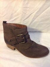 Next Brown Ankle Leather Boots Size 37