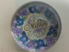 """Punch Studio Crystal Paperweight """"Mother� Made In France Mother 3.5�"""