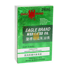 Eagle Brand 24ml Medicated Oil Liniment Muscular Aches Muscles Pains Relief x 2