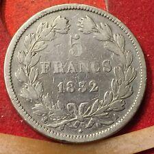 FRANCIA 5 FRANCHI 1832 ARGENTO 900/1000 LUIGI FILIPPO (1830-1848)