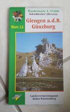 Wanderkarte Schwäbischer Albverein: Giengen a.d.B.-Günzburg (Blatt 22) NEU