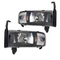 1994-2001 Dodge Ram 1500 2500 3500 Headlights Signal Corner Lamps Set Left+Right