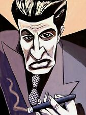 THE SOPRANOS CIGAR PRINT poster silvio dante steve van zandt smoking mafia hbo
