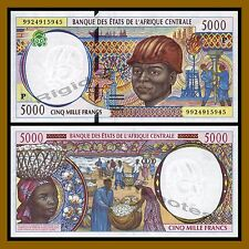 Central African States, Chad 5000 Francs, 1999 P-604Pe Unc