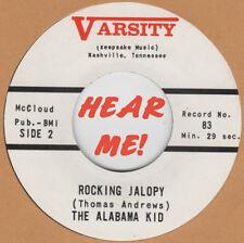 ROCKABILLY REPRO: VARSITY 83 - THE ALABAMA KID - ROCKIN' JALOPY / WHERE DID YOU
