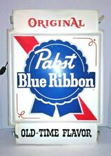 Pabst Blue Ribbon Sign lighted Old time Flavor