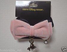 Tokyo Disney Resort Alice In Wonderland Chouchou Hair Tie Accessory Pink Bow
