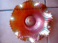 Carnival Glass Bowl Amber,