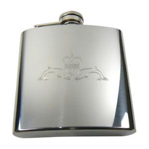 Submariners Royal Navy 6oz hip flask