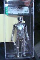 🎈 Star Wars AFA 75 DEATH STAR DROID Loose Action Figure 1978 Kenner HK Graded