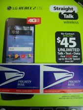 3 Day USPS PM Straight Talk LG Rebel 2 LTE  w/2 cams