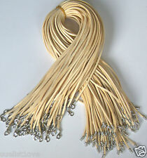 Wholesale price 10 pcs Beige Suede Leather String 20 inch Necklace Cord new