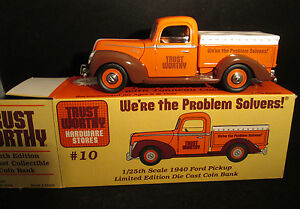 Trustworthy Hardware 1940 Ford Pickup w/ Tonneau Cover Die Cast Bank in Box
