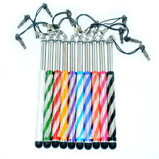10Pcs Retractable Metal Print Stylus Touch Screen Pen For iPhone iPad Samsung