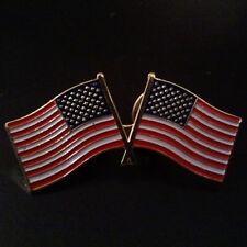 "Lapel Pins Patriotic Two U.S Flags God Bless the Usa - 1 1/2"" L x 5/8"" H"