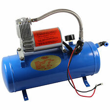 AIR COMPRESSOR WITH 6 LITER TANK FOR TRAIN HORNS MOTORHOME TIRES150PSI DC 12V