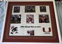2001 Miami Hurricanes team signed framed Dorsey Gore Andre Johnson Portis Rolle