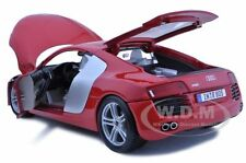 AUDI R8 RED 1:18 DIECAST MODEL CAR BY MAISTO 36143