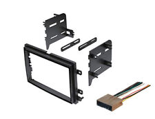 Double Din Dash Kit For Aftermarket Stereo Radio Install with Wire Harness