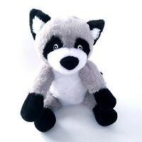 "Racoon Plush Soft Stuffed Animal Gray White Black 11"" Ross"