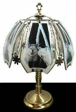 white wolves  touch lamp 24 inch