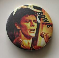 DAVID BOWIE LARGE METAL PIN BADGE FROM THE 1970'S STATION TO STATION RETRO