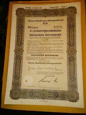 GERMANY: DURENER METALLWERKE 1000  REICHSMARK 4% BOND, 1943